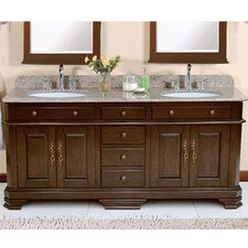 "Perkin 72"" Vanity Set with Backsplash"
