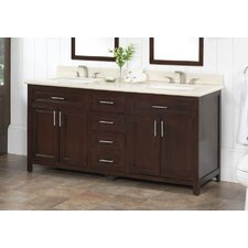 "72"" Vanity Set with Backsplash"