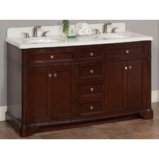 "Chester 60"" Vanity Set with Backsplash"