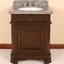 "Perkin 28"" Vanity Set with Backsplash & Matching Mirror"