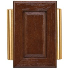 Wired Raised-Panel Door Chime in Brown Cherry