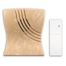 Wireless Battery Operated Door Chime in Faux Marble