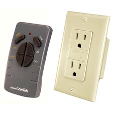 <strong>Heath-Zenith</strong> Wireless Command Lighting Remote Control Receptacle Set in Ivory