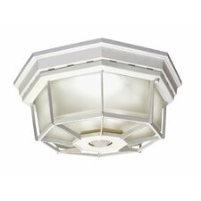 Motion Activated Octagonal 4 Light Ceiling Light