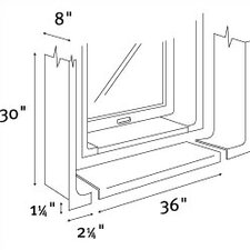 <strong>Swanstone</strong> High Gloss Window Trim Kit