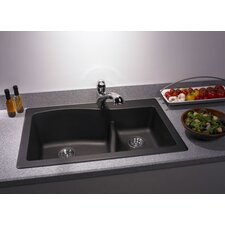 "<strong>Swanstone</strong> Swanstone Classics 33"" x 22"" Large/Small Bowl Kitchen Sink"