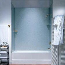 Metropolitan Acrylic Three Panel Bath Tub Wall System and Installation Kit