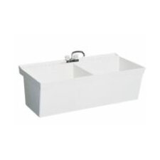 Veritek Double Bowl Wall Mount Laundry Sink