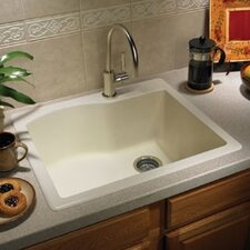 "Swanstone Classics 25"" x 22"" Single Bowl Kitchen Sink"