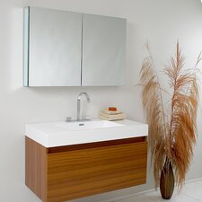 "Senza 39"" Single Mezzo Modern Bathroom Vanity Set"