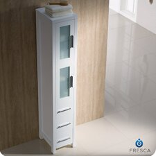 "Bari Torino 12"" x 68"" Bathroom Linen Side Cabinet"