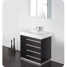 "Senza 30"" Livello Modern Bathroom Vanity Set with Single Sink"