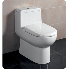 Antila Dual Flush 0.8 GPF / 1.6 GPF Elongated 1 Piece Toilet with Soft Close Seat