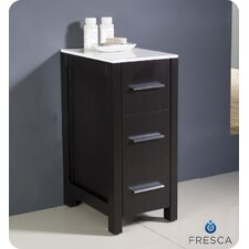 "Torino 12"" Bathroom Linen Side Cabinet"
