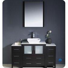 "Torino 54"" Single Modern Bathroom Vanity Set with Mirror"