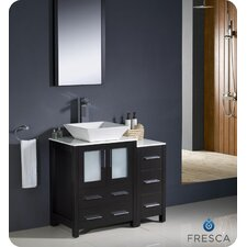 "Torino 36"" Modern Bathroom Vanity Set with Single Sink"