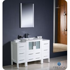 "Torino 48"" Modern Bathroom Vanity Set with 2 Side Cabinets and Undermount Sink"