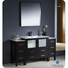 "Torino 60"" Modern Bathroom Vanity Set with Single Sink"