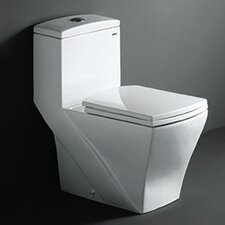 Salerno Dual Flush Elongated 1 Piece Toilet