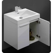 "Senza 23"" Alto Modern Bathroom Vanity Set with Medicine Cabinet"