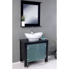 "Classico 31.5"" Emotivo Modern Bathroom Vanity Set with Mirror"