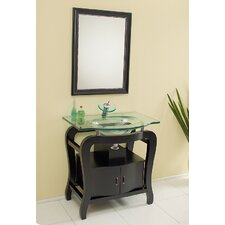 "<strong>Fresca</strong> Classico 31.25"" Fresca Grazioso Modern Bathroom Vanity Set with Mirror"