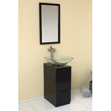 "Stella 17"" Brilliante Modern Bathroom Vanity Set with Mirror"