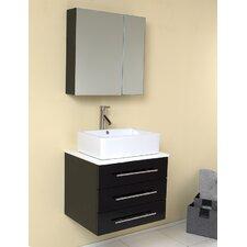 "Stella 23.5"" Modella Modern Bathroom Vanity Set with Medicine Cabinet"