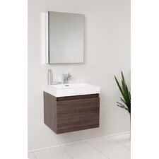 "Senza 24"" Nano Modern Bathroom Vanity Set with Single Sink"