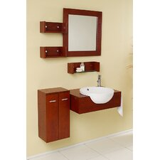 "<strong>Fresca</strong> Nero Stile 25.5"" Modern Bathroom Vanity Set"