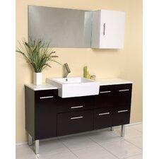 "Stella Serio 55"" Modern Bathroom Vanity Set with Single Sink"