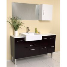 "Stella Serio 55.38"" Modern Bathroom Vanity Set"