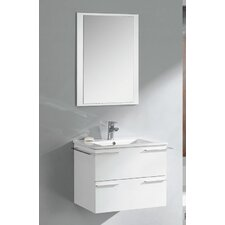 "Cielo 24"" Modern Bathroom Vanity Set with Single Sink"