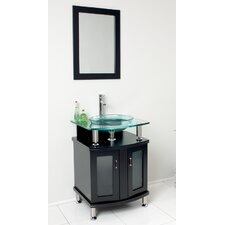 "Classico Contento 24"" Modern Bathroom Vanity Set"