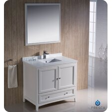 "Oxford 36"" Traditional Bathroom Vanity Set with Single Sink"