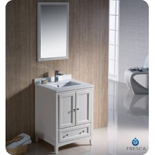 "Oxford 24"" Single Traditional Bathroom Vanity Set with Mirror"