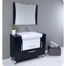 "<strong>Fresca</strong> Nero Vita 43.25"" Modern Bathroom Vanity Set"