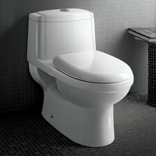 Dorado Dual Flush 0.8 GPF / 1.6 GPF Elongated 1 Piece Toilet with Soft Close Seat