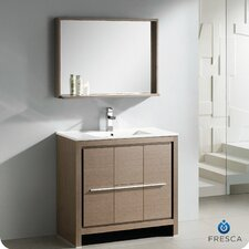 "Allier 35.5"" Modern Bathroom Vanity Set with Mirror"