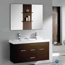 "Vilanie 47.25"" Modern Double Sink Bathroom Vanity Set with Mirror"