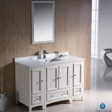 "Oxford 48"" Single Traditional Bathroom Vanity Set with Mirror"