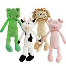 <strong>Fou Fou Dog</strong> Tall Animal Toy (Set of 4)
