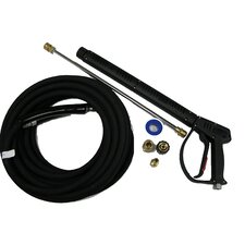 "Vented 4000 PSI Pressure Washing Gun Kit with 50-Foot (3/8"") Wrapped Rubber Hose"