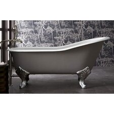 "Epoque Nouveau 67"" x 31"" High Back Less Feet Slipper Tub"