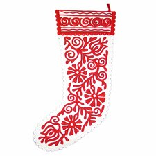 <strong>The Sandor Collection</strong> Siofok Stocking in Red and White