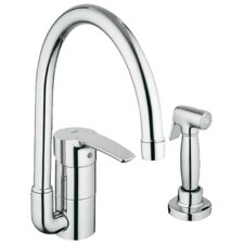 Eurostyle Single Handle Single Hole Kitchen Faucet with Side Spray