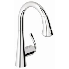 <strong>Grohe</strong> Ladylux3 Main Single Handle Single Hole Kitchen Faucet with Dual Spray Pull Down