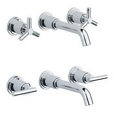 Atrio 3-H Basin Mixer Wall Mount Trim Set