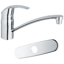<strong>Grohe</strong> Eurosmart Single Handle Single Hole Swivel Kitchen Faucet with Spout with Water Care