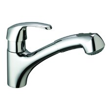 <strong>Grohe</strong> Alira One Handle Single Hole Kitchen Faucet with Water Care with Dual Spray Pull-Out